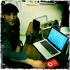 Darren Modzelewski at his desk, Berkeley, CA