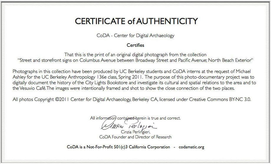 Photography certificate of authenticity template 28 for Certificate of authenticity photography template